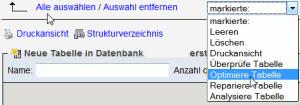 Datenbank optimieren mit phpMyAdmin