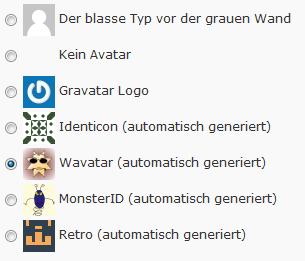 Standardavatar in WordPress auswählen