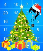 Rätsel-Adventskalender mit Raster