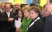 Angela Merkel auf der CeBIT 2012