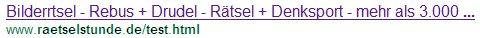 So sieht eine mit Hilfe der robots.txt gesperrte Seite in Google aus.